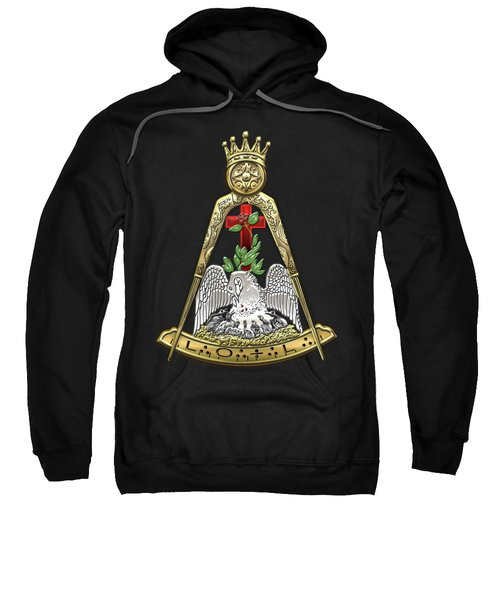 18th Degree Mason - Knight Rose Croix Masonic Jewel  Sweatshirt by Serge Averbukh