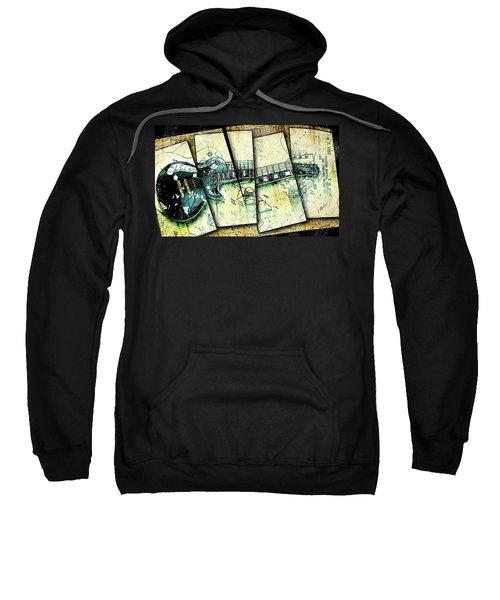 1955 Les Paul Custom Black Beauty V2 Sweatshirt by Gary Bodnar