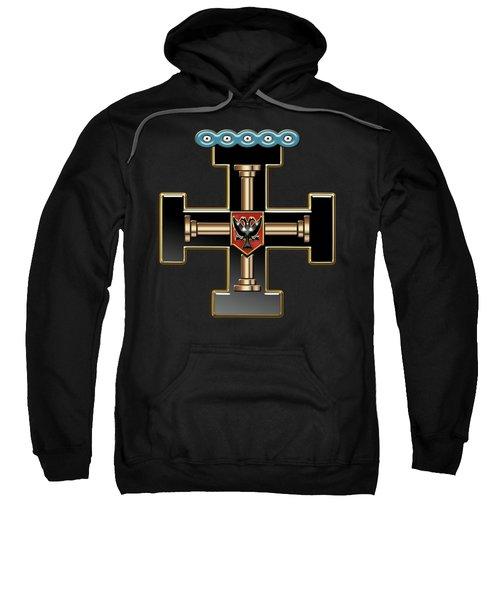 27th Degree Mason - Knight Of The Sun Or Prince Adept Masonic Jewel  Sweatshirt by Serge Averbukh