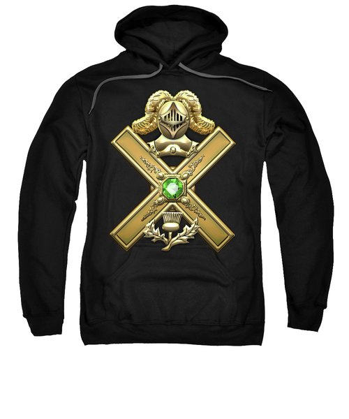29th Degree Mason - Scottish Knight Of Saint Andrew Masonic Jewel  Sweatshirt by Serge Averbukh