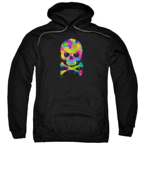 Abstract Trendy Graffiti Watercolor Skull  Sweatshirt by Philipp Rietz