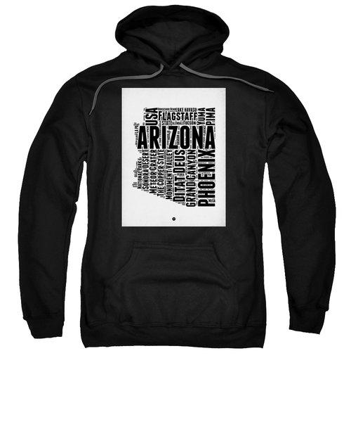 Arizona Word Cloud Map 2 Sweatshirt by Naxart Studio