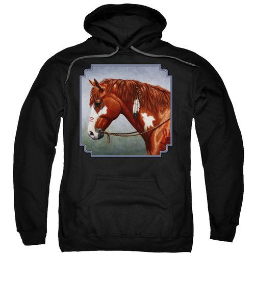 Native American War Horse Sweatshirt by Crista Forest