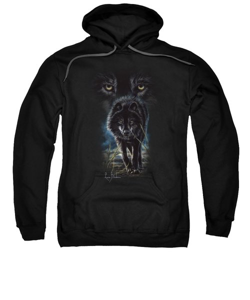 Black Wolf Hunting Sweatshirt by Lucie Bilodeau