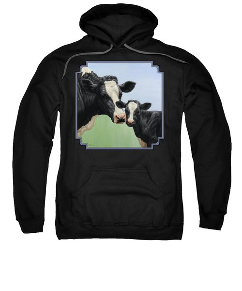 Holstein Cow And Calf Sweatshirt by Crista Forest