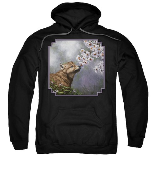 Wolf Pup - Baby Blossoms Sweatshirt by Crista Forest