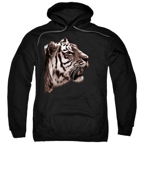 Siberian Tiger Profile Sweatshirt by Crystal Wightman