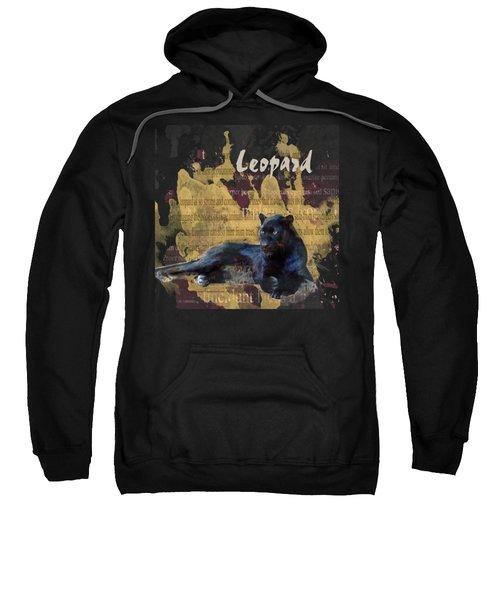 Black Leopard Sweatshirt by Methune Hively