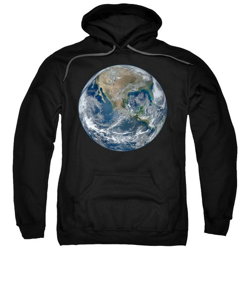 Blue Marble 2012 Planet Earth Sweatshirt by Nikki Marie Smith