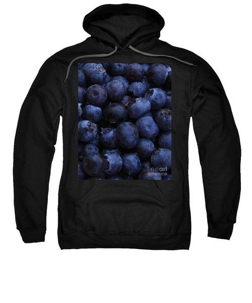 Blueberries Close-up - Vertical Sweatshirt by Carol Groenen