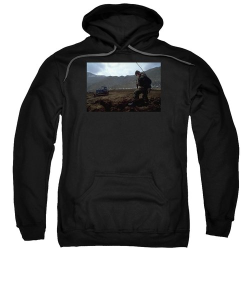 Sweatshirt featuring the photograph Boots On The Ground by Travel Pics