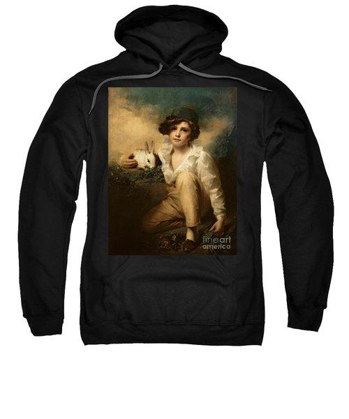 Boy And Rabbit Sweatshirt by Sir Henry Raeburn
