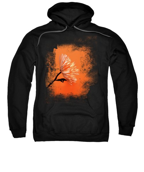 Chrysanthemum Orange Sweatshirt by Mark Rogan