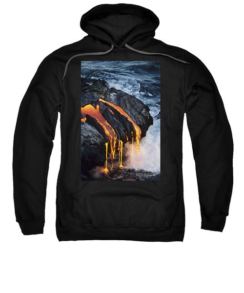 Close-up Lava Sweatshirt by Don King - Printscapes