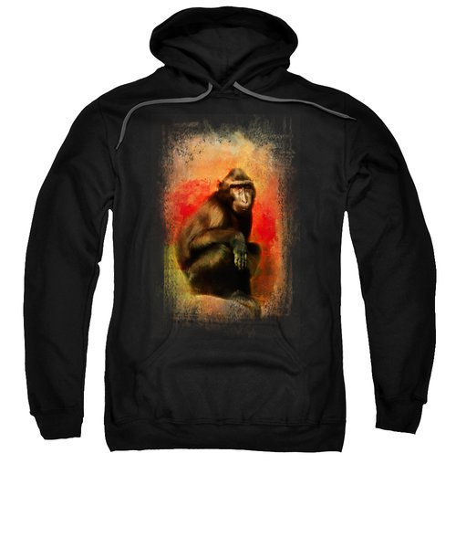Colorful Expressions Black Monkey Sweatshirt by Jai Johnson