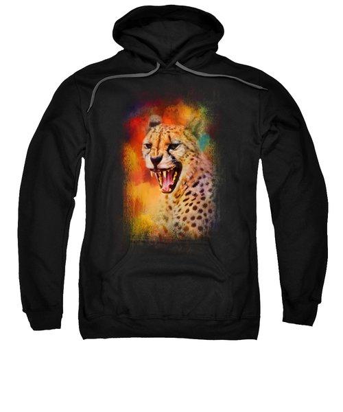 Colorful Expressions Cheetah 2 Sweatshirt by Jai Johnson