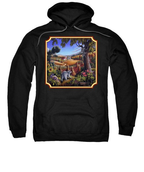 Coon Gap Holler Country Landscape - Square Format Sweatshirt by Walt Curlee