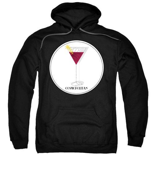Cosmopolitan Cocktail Pop Art Deco  Sweatshirt by Cecely Bloom
