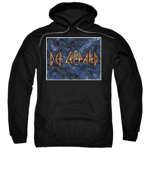 Def Leppard Albums Mosaic Sweatshirt by Paul Van Scott