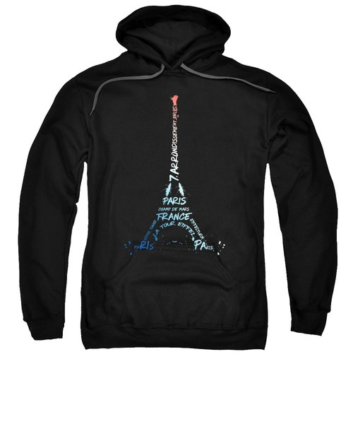 Digital-art Eiffel Tower National Colours Sweatshirt by Melanie Viola