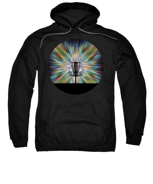 Disc Golf Basket Silhouette Sweatshirt by Phil Perkins