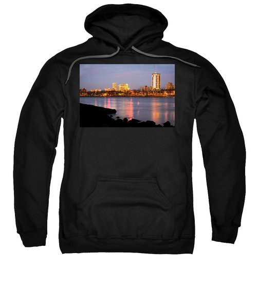Downtown Tulsa Oklahoma - University Tower View Sweatshirt by Gregory Ballos