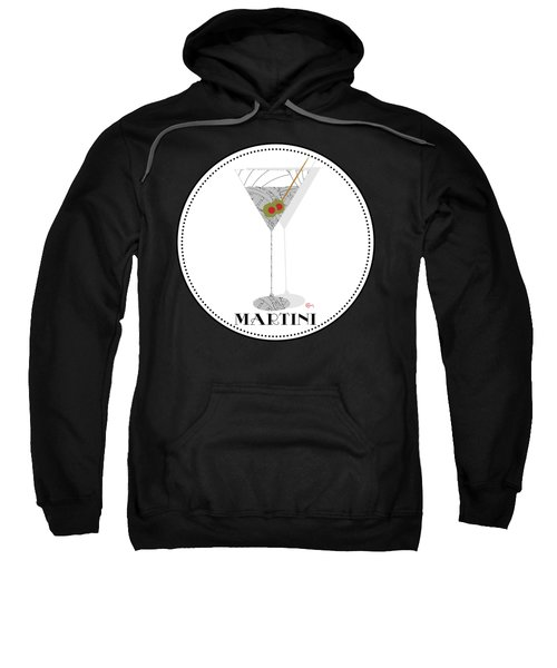 Dry Martini Cocktail Pop Art Deco Sweatshirt by Cecely Bloom