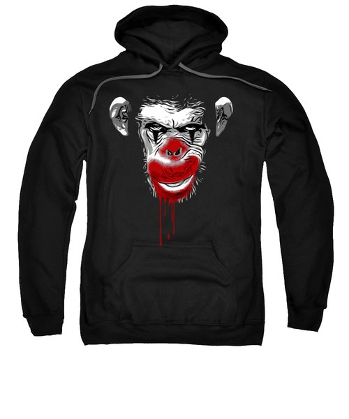 Evil Monkey Clown Sweatshirt by Nicklas Gustafsson
