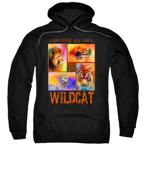Expressing My Inner Wildcat Sweatshirt by Jai Johnson