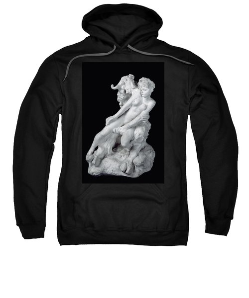 Faun And Nymph Sweatshirt by Auguste Rodin