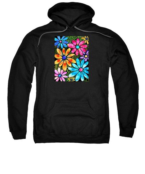 Floral Art - Big Flower Love - Sharon Cummings Sweatshirt by Sharon Cummings