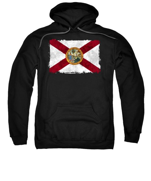 Florida Flag Sweatshirt by World Art Prints And Designs