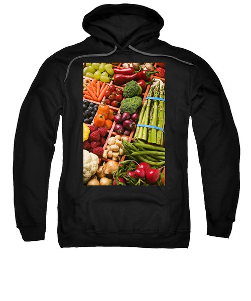 Food Compartments  Sweatshirt by Garry Gay