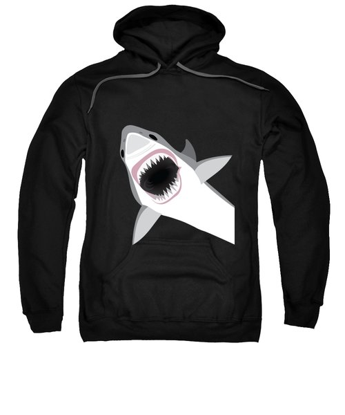 Great White Shark Sweatshirt by Antique Images