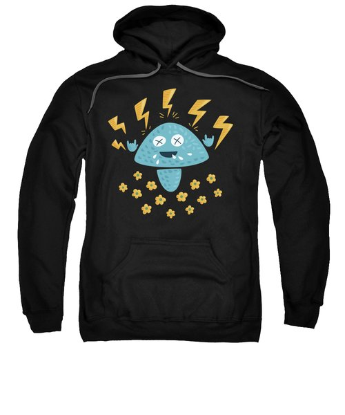Heavy Metal Mushroom Sweatshirt by Boriana Giormova