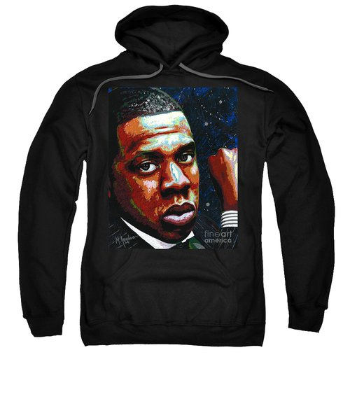 I Am Jay Z Sweatshirt by Maria Arango