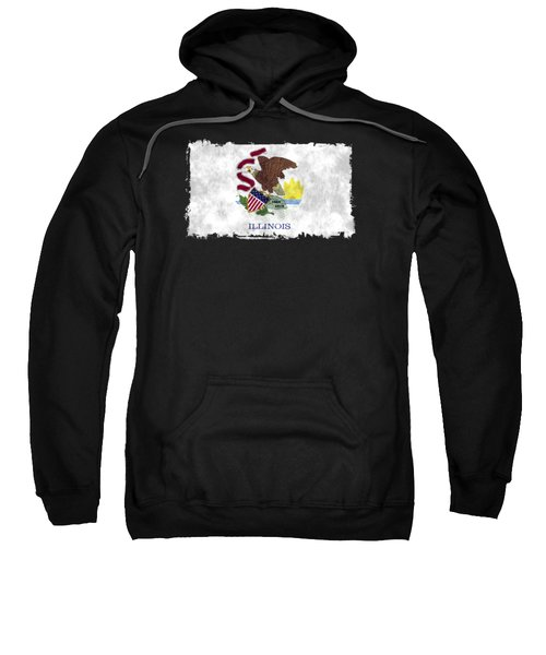Illinois Flag Sweatshirt by World Art Prints And Designs