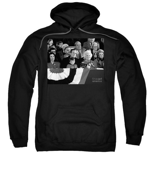Inauguration Of George Bush Sr Sweatshirt by H. Armstrong Roberts/ClassicStock