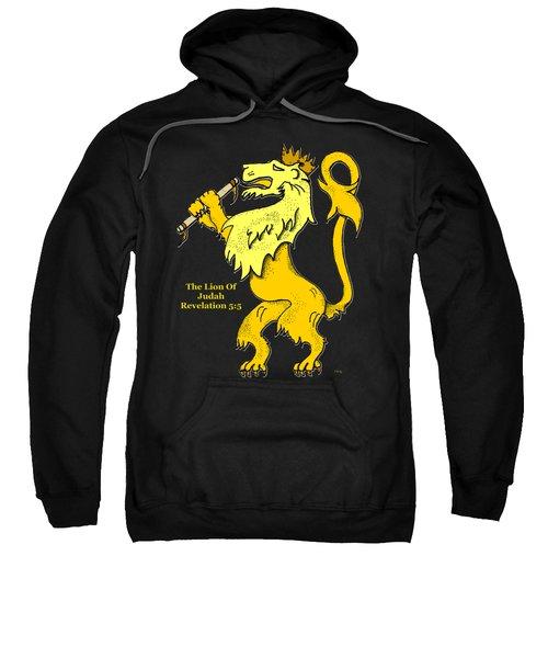 Inspirational - The Lion Of Judah Sweatshirt by Glenn McCarthy Art and Photography