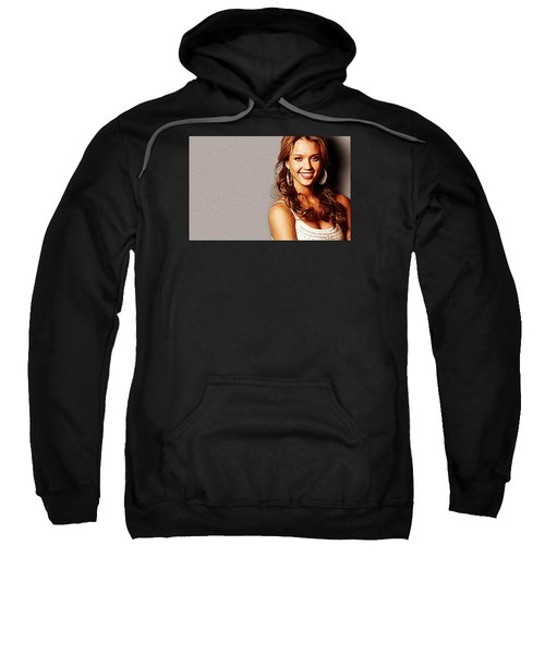 Jessica Alba Sweatshirt by Iguanna Espinosa