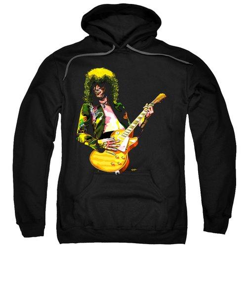 Jimmy Page Of Led Zeppelin Sweatshirt by GOP Art