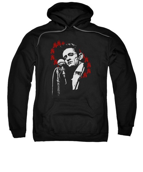 Johnny Cash Ring Of Fire T Shirt Print Sweatshirt by Melissa O'Brien