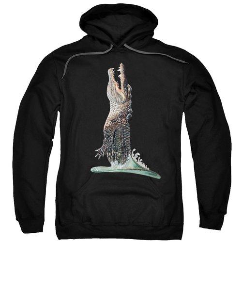 Jumping Gator Sweatshirt by Jennifer Rogers