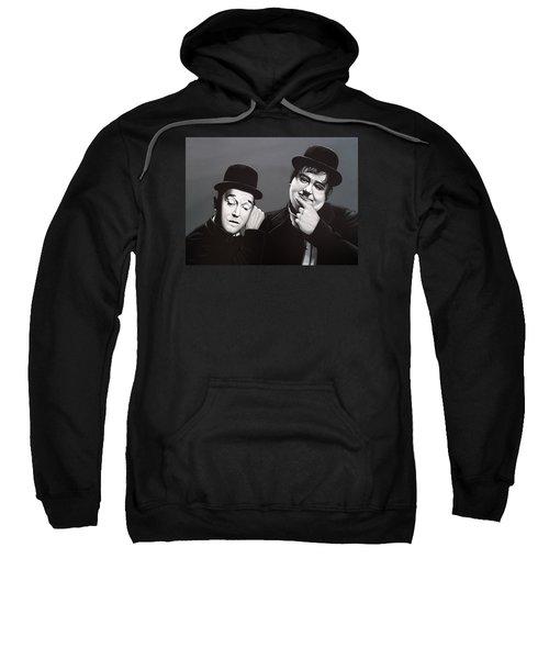 Laurel And Hardy Sweatshirt by Paul Meijering