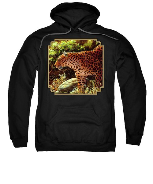 Leopard Painting - On The Prowl Sweatshirt by Crista Forest