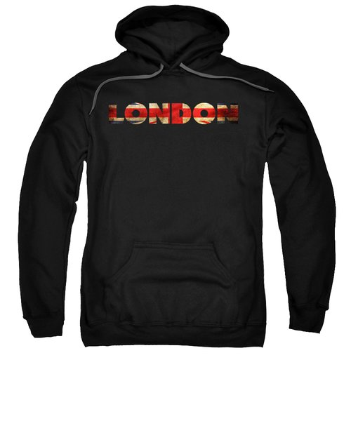 London Vintage British Flag Tee Sweatshirt by Edward Fielding