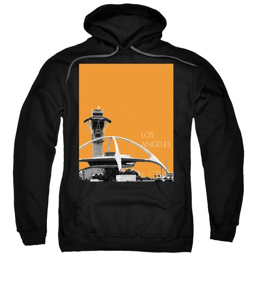 Los Angeles Skyline Lax Spider - Orange Sweatshirt by DB Artist