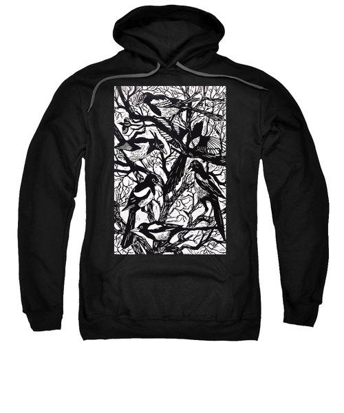 Magpies Sweatshirt by Nat Morley