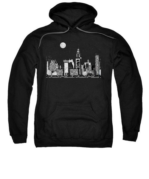 Manhattan At Night New York Swings Sweatshirt by Cecely Bloom