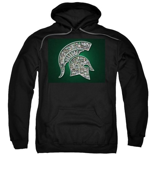 Michigan State Spartans Football Sweatshirt by Fairchild Art Studio